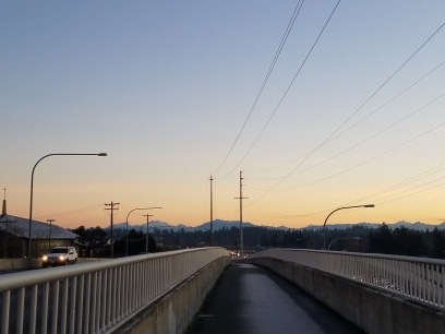 Part of Interurban Trail - from here you can see the Olympic and Cascade mountains!